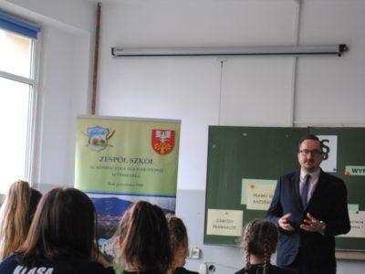 Spotkanie z prokuratorem z Prokuratury Rejonowej w Limanowej