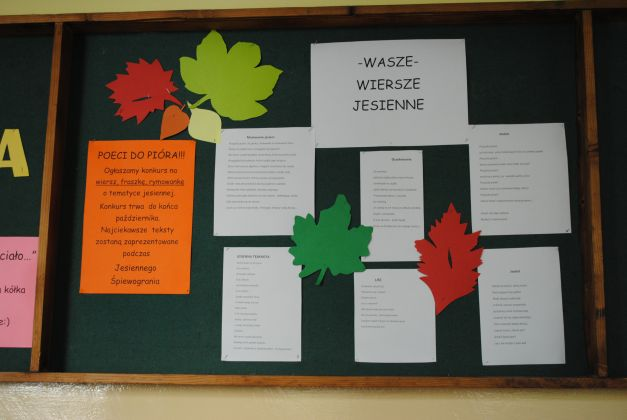 Szkolny Konkurs Na Wiersz Jesienny Zs W Tymbarku