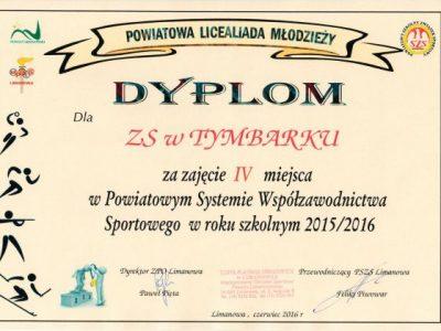 Powiatowa licealiada młodzieży 2015 / 2016