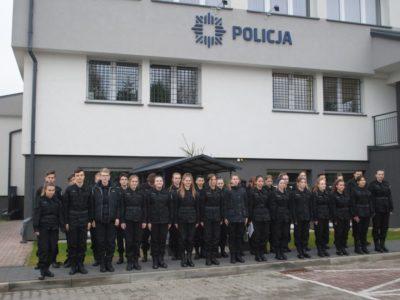 Wizyta uczniów klasy policyjnej w KPP w Limanowej i w KPPSP w Limanowej